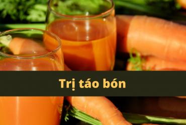 chữa táo bón với củ cà rốt xuantoan.com